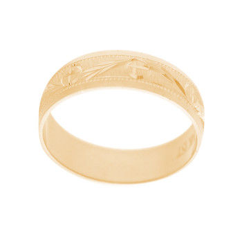 Yellow Gold Wedding Band Set - WBS121 Bride Band