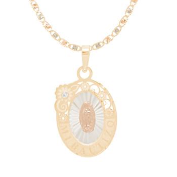 Baptism Jewelry Set - Chain, Pendant & Bracelet - 14K - BPS105B