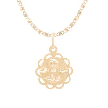 Baptism Jewelry Set - Chain, Pendant & Bracelet - 14K - BPS107B