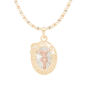 Baptism Jewelry Set - Chain, Pendant & Bracelet - 14K - BPS108B