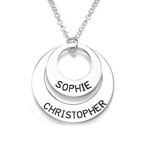 Silver Discs Name Necklace - 0.925 - ANS007