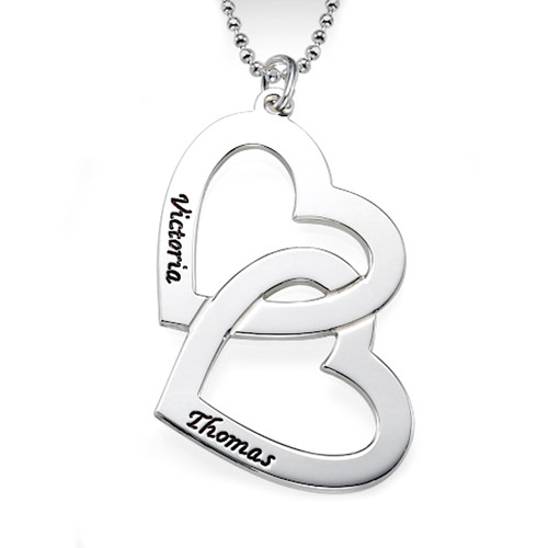 Heart Silver Name Necklace - 0.925 - ANS005