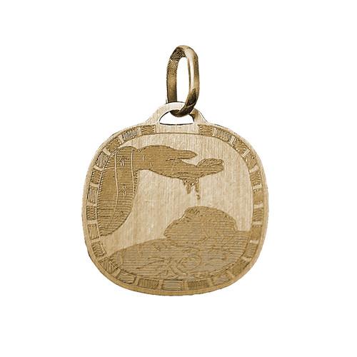 Yellow Gold Baptism Medal - 14 K - BPT016