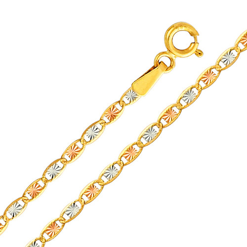 Yellow / White / Red Gold Chain -  Valentino DC - 2.1 mm - CH115