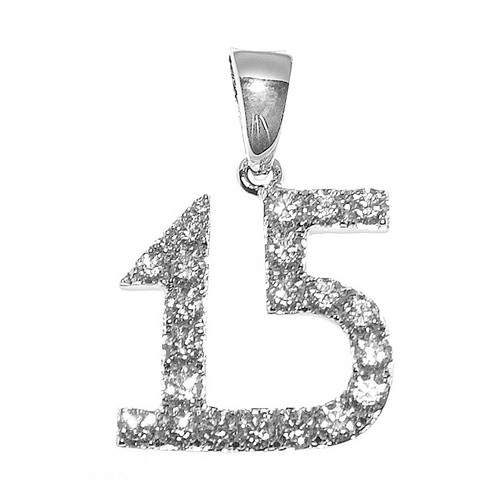 Forever 15 - Silver Pendant with CZ - 1.6 gr. - FFS05