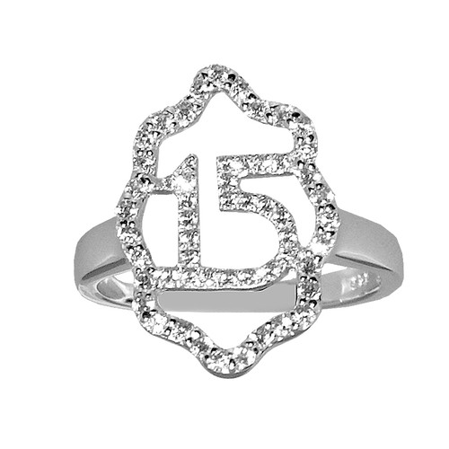 Forever 15 – Silver Ring with CZ - 3.5 gr. - FFS04