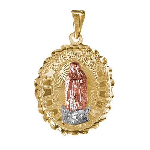Yellow / White / Red Gold Baptism Medal  - 2.1 gr - V210