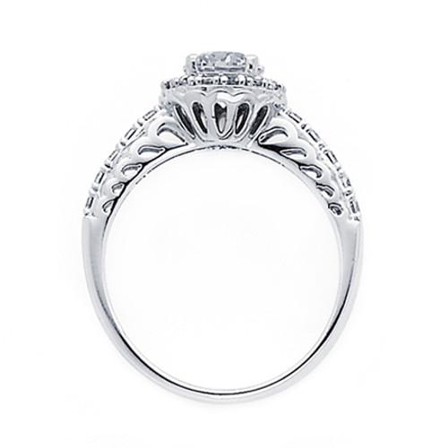 White Gold Engagement Ring - 14K  3.8 gr. - RG53