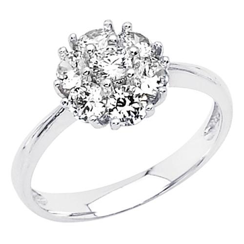 White Gold Engagement Ring 14K  3.1 gr. - RG50