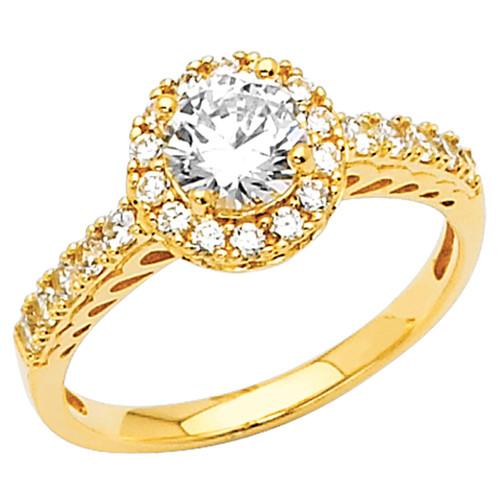 Yellow Gold Engagement Ring - 14K 3.5 gr. - RG41