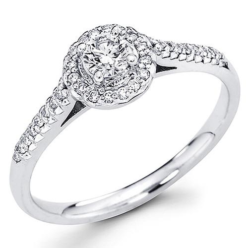 White Gold Engagement Ring - 14K - 0.70 Ct - DRG60