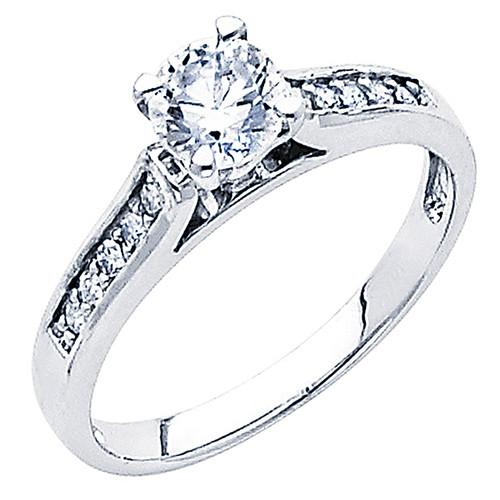 White Gold Engagement Ring - 14K - 0.64 Ct - DRG54