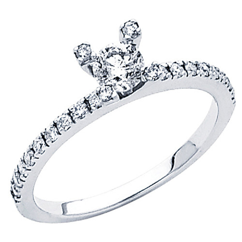 White Gold Engagement Ring - 14K - 0.62 Ct - DRG47