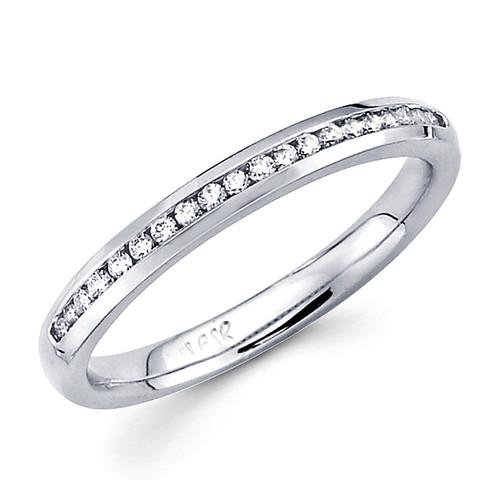 White gold wedding band with diamonds - BD5-10