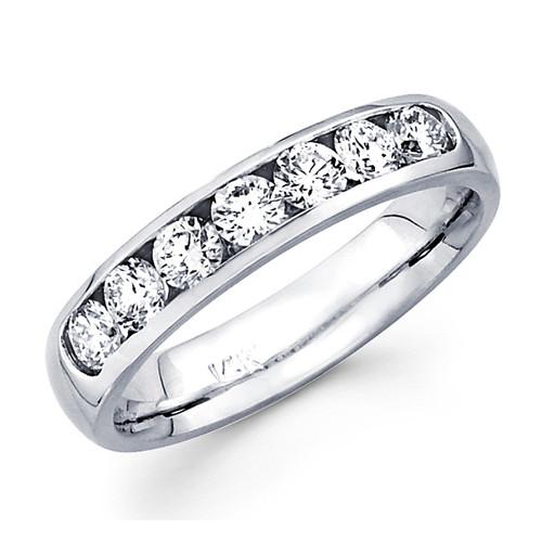 White gold wedding band with diamonds - BD5-6