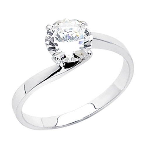 White or Yellow Gold Engagement Ring - 14 K.  2.5 gr - RG4W