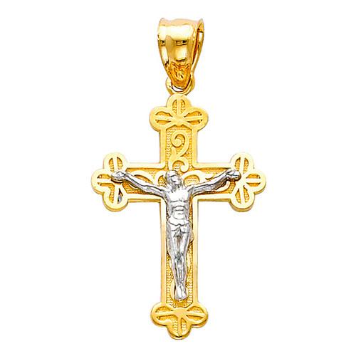 Yellow / White Gold Cross - 14K  1.6 gr. - PT50