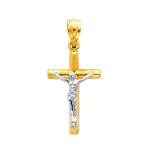 Yellow / White Gold Cross - 0.8 gr. - PT49
