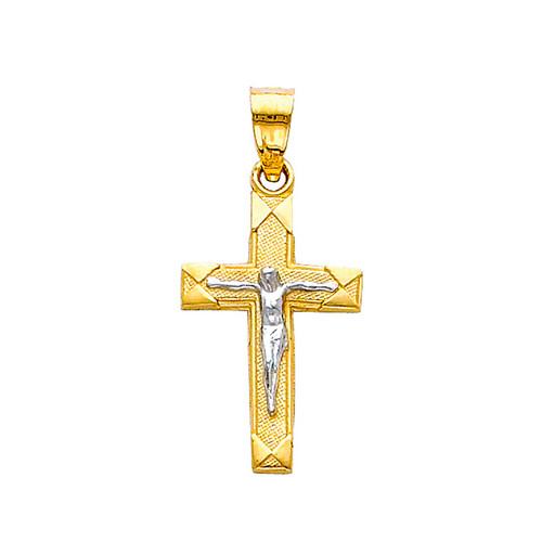 Yellow / White Gold Cross - 14K - 0.7 gr. - PT44