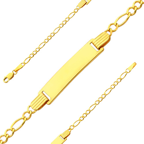 Yellow Gold Baby ID Bracelet - 14 K - 6 in - 2.5 gr. - AB103