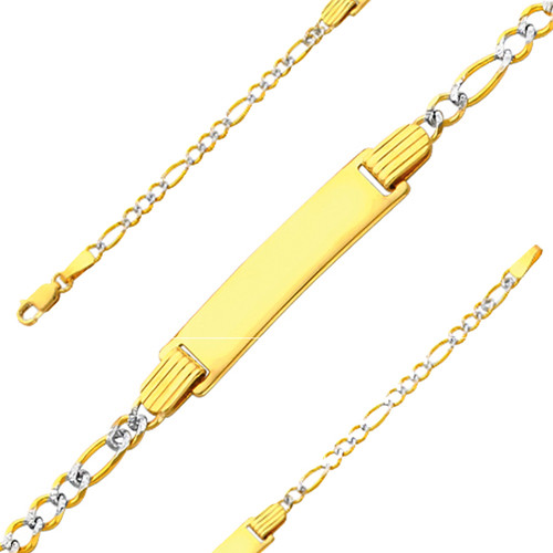 Yellow Gold Baby ID Bracelet - 14 K  6 in - 2.5 gr. - AB106