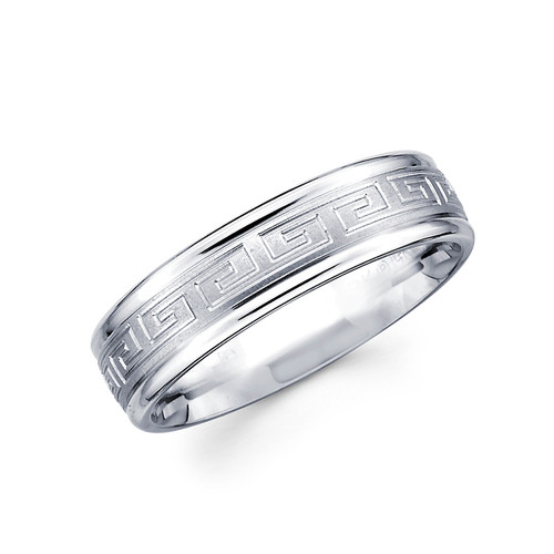 White gold wedding band - BC2-16
