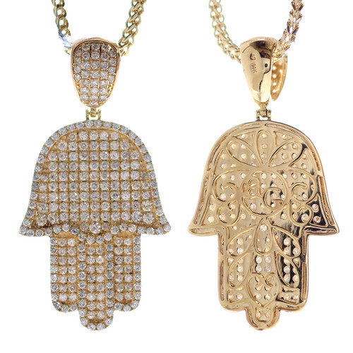 2 Sided Gold & Diamond Pendant - APD-312