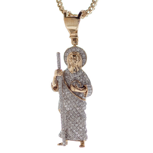 Saint Jude 14K Gold & Diamonds Pendant - MRD-203
