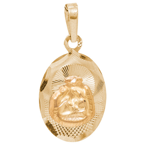Yellow Gold Baptism Medal - 14 K - 1.9 gr. - BPT-572