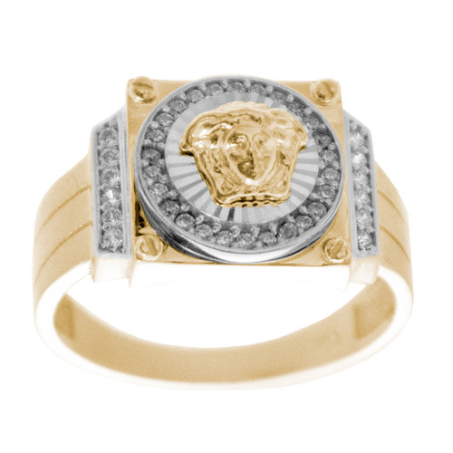 Yellow / White Gold Ring - 14 K - RGO-255