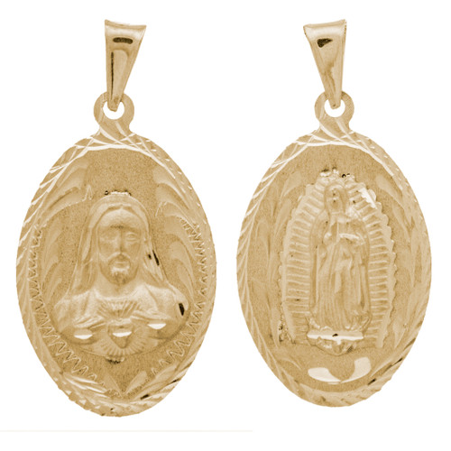 Yellow Gold Medal - 2 Sides - 14 K - RP210