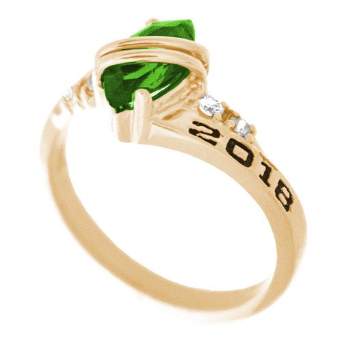 Graduation Ring / Yellow Gold - CZ - GDR169