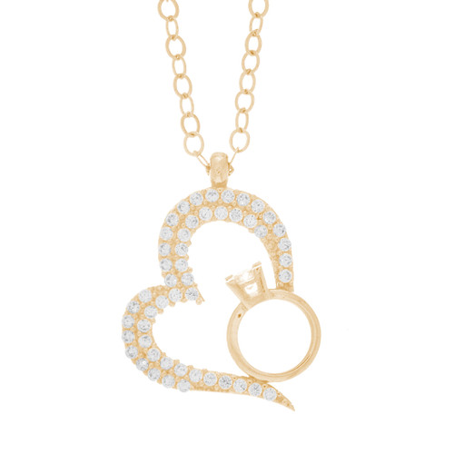 Necklace and Pendant Set  - CZ - 14 K - JST336  Necklace and infinite love Pendant Set  14 K. | 3.2 gr.  For more info call us at: 773-342-1226