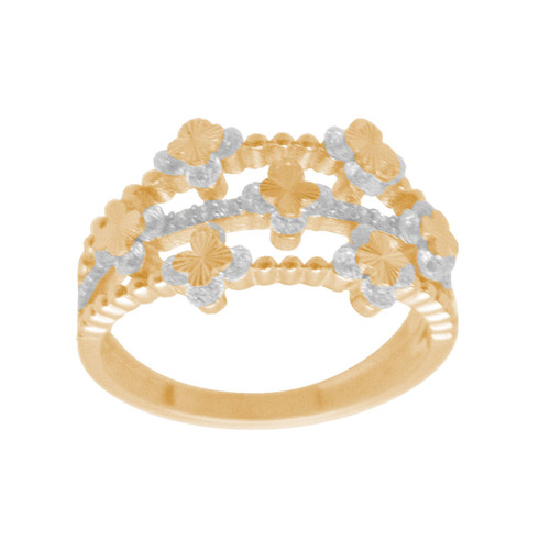 Yellow Gold Ring with CZ - 14 K - RGO333