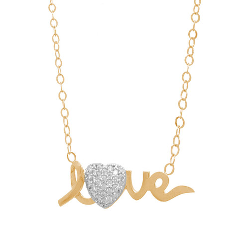 Gold Pendant and Chain Set - CZ - 14 K - JST347