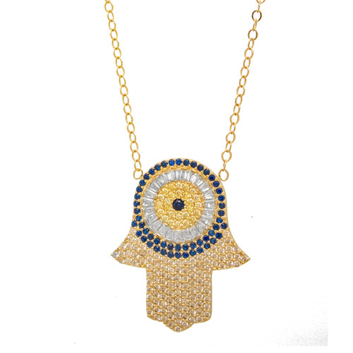 Gold Pendant and Chain Set - CZ - 14 K - JST350