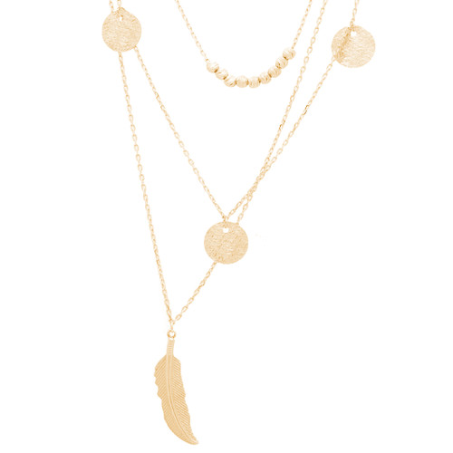 Yellow Gold Pendants and Chains Set - 14 K - JST391