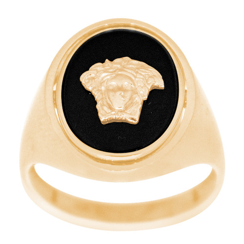 Men's Yellow Gold Ring - Versace - 14 K - RGO340