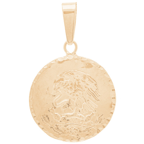Yellow Gold Pendant - Mexican Eagle - 14 K - GP102