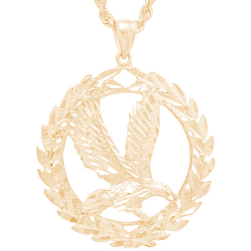 Yellow Gold Pendant - Mexican Eagle - 14 K - GP107
