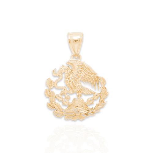 Yellow Gold Pendant - Mexican Eagle - M - 14 K - GP108