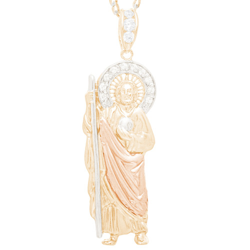 Three Gold Medal - St. Jude  -  CZ - 14 K - RP369