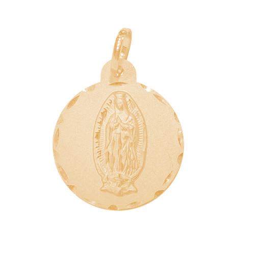 Yellow Gold Medal - Virgin Mary Medal - 14 K - RP276