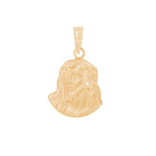 Yellow Gold Jesus Face Medal - 14 K - RP294