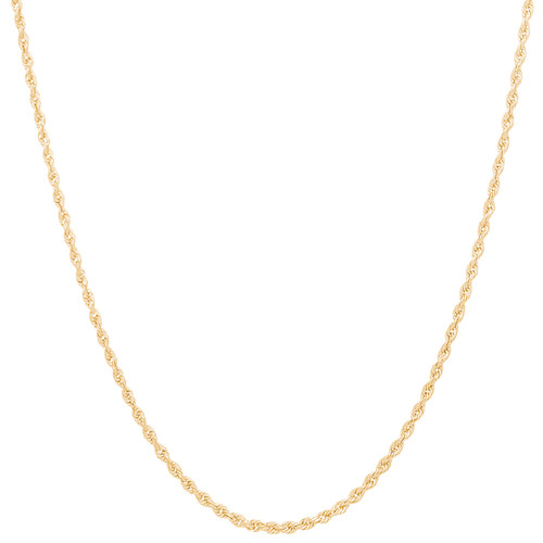 "2mm Solid Diamond Cut Rope Chain - 18"", 20"", 22"""