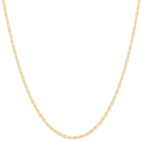 "2.5mm Solid Diamond Cut Rope Chain - 18"", 20"", 22"", 24"""