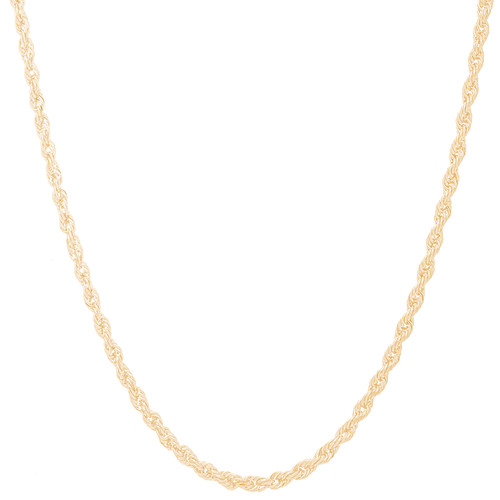 "3mm Solid Diamond Cut Rope Chain - 22"", 24"""