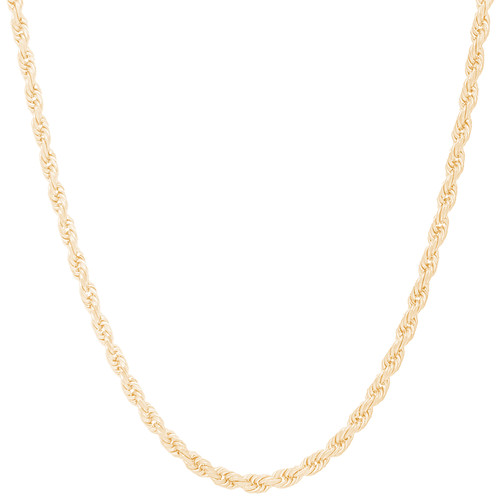 "4mm Solid Diamond Cut Rope Chain - 20"", 24"""