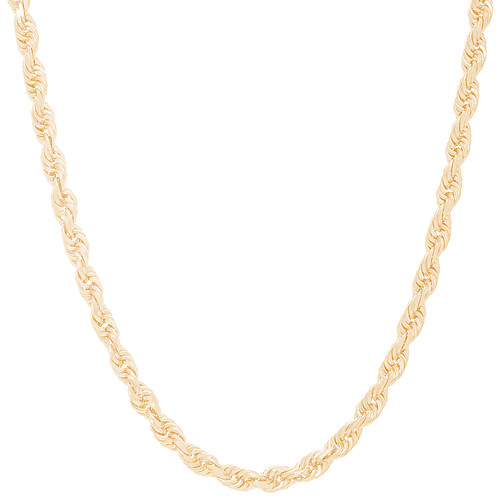 5mm Solid Diamond Cut Rope Chain - 24""