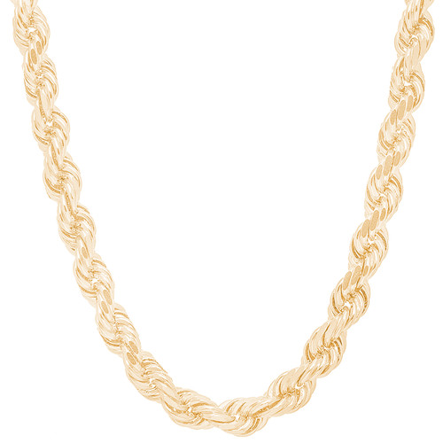 8mm Solid Diamond Cut Rope Chain - 30""